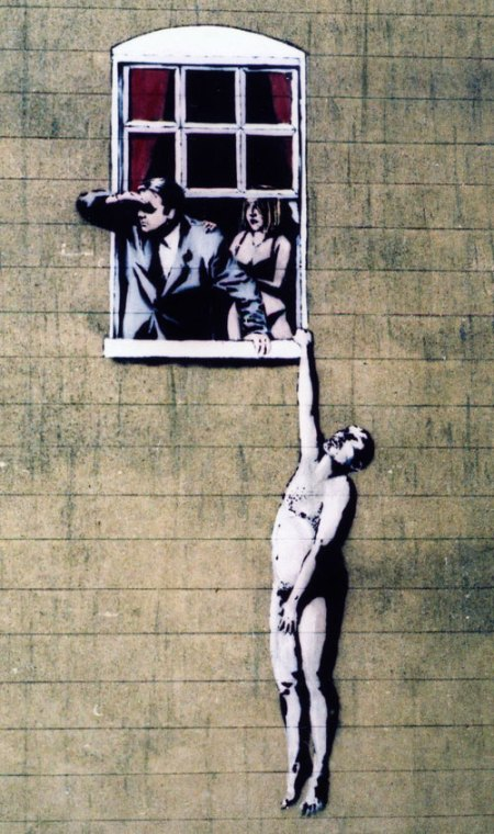 Banksy street art 'saved' by public vote in Bristol