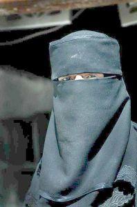 Muslim woman wearing the Niqab (Veil)