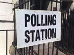 """Polling Station"" sign"