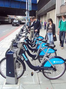 A London Cycle Hire scheme docking station