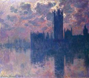 Monet Houses of Parliament at Sunset