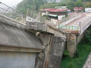 Shih Gang Reservoir, China after a 2005 earthquake