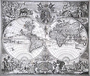 Map of the world, prepared by Vasily Kipriyanov From http://libraries.theeuropeanlibrary.org/RussiaStpetersburg/treasures_en.xml Begining of the 18th century Category:Old maps of the world