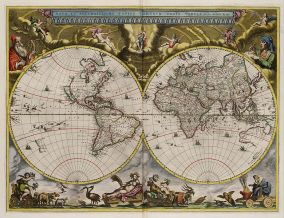 World Map from 1664
