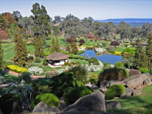 Taken by John O'Neill: View from lookout hill of Japanese Gardens, Cowra, NSW, Australia.  This file is licensed under the Creative Commons Attribution-Share Alike 3.0 Unported licence.