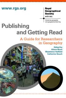 Publishing and getting read front cover. Copyright Royal Geographical Society (with IBG) and Wiley-Blackwell.