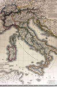 A 1828 Map of pre-unity Italy, made in Paris by A. Broué (Geneva- Bibliothèque de Genève, Département des Cartes et Plans, Tiroir Italie)