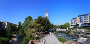 Picturesque Pforzheim, Germany belies local and regional financial woes. (c) 2014 Wikimedia Commons.