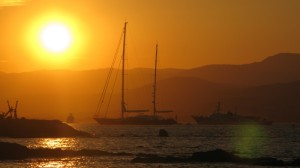 Super yachts at St Tropez (author's own image)
