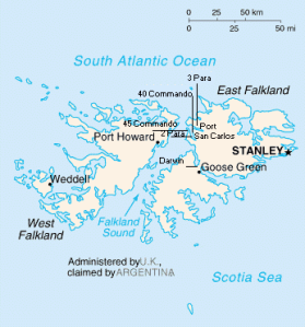 A British Map of the Falkland Islands (Wikimedia Commons)