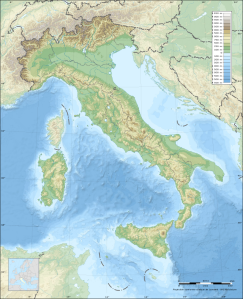 Italy: designed by geography. © 2014 Wikimedia Commons.