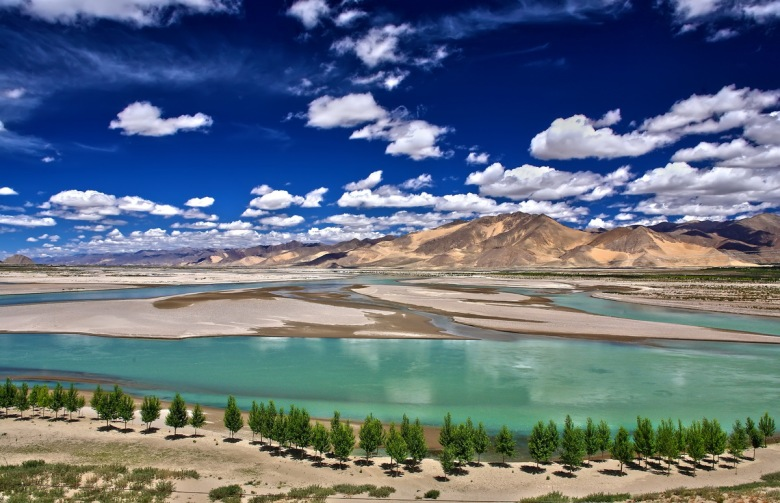 Brahmaputra River, Shigatse, Tibet