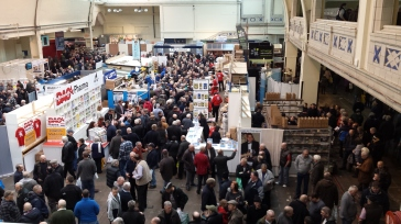 Stalls at the British Homing World Show, 2015 Source: own photo