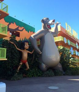 Mowgli and Baloo at Orlando Disney World Source: Wikimedia Commons